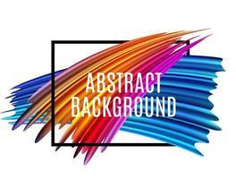 Abstract spectrum brush strokes. Textured Art Frame Background vector