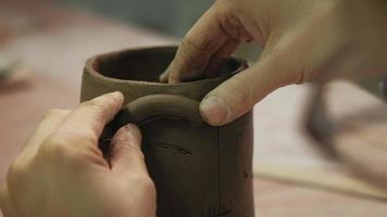 Crafting the Details of a Ceramic Cup video