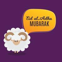 Eid al Adha Kurban Bayrami muslim festival of sacrifice vector