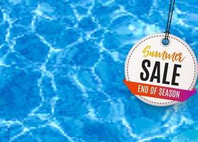 Abstract Summer Sale Background vector