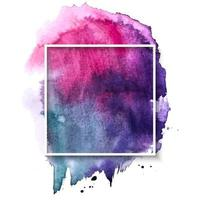 Hand drawn brush strokes and frame background vector