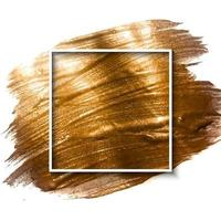Hand drawn brush strokes and gold frame background vector