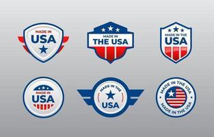 Logo Set of Made in USA vector