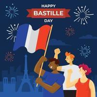 Bastille Day Background Concept vector