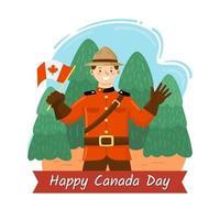 Happy Canada Day Concept vector