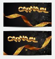 bandera dorada del carnaval, carnaval español vector
