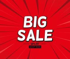Sale Background in Pop Art Style vector