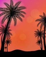 Beautiful Palm Trees background Vector Illustration