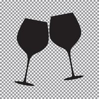 Sparkling Wine Glasses vector