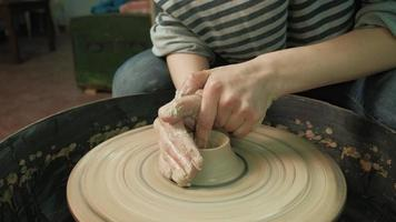 Close up of a Bowl Being Crafted video