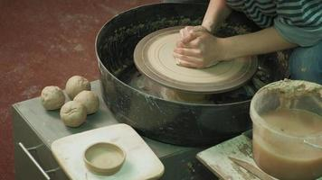 Pressing on a Piece of Clay video