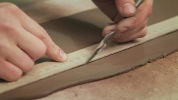 Measuring and Cutting Clay video