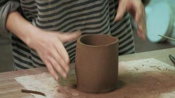 Detail Work on a Ceramic Cup video