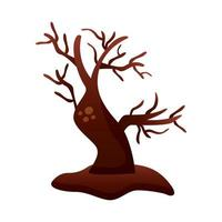 enchanted tree degradient style icon vector