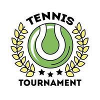deporte de tenis de pelota con línea de corona de corona e icono de estilo de relleno vector