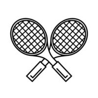 tennis sport rackets line style icon vector