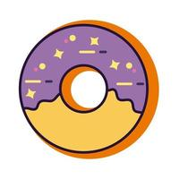 donut slang line and fill style icon vector