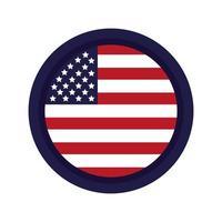 united states of america flag circular stamp vector