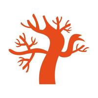 dark tree halloween isolated icon vector
