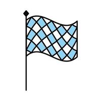 oktoberfest flag line and fill style icon vector