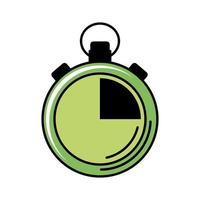 chronometer timer line and fill style icon vector