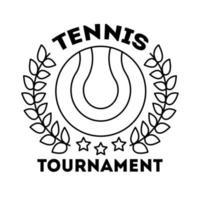 deporte de tenis de pelota con corona icono de estilo de línea de corona vector