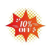 ten percent off in label vector design