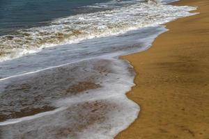 playa en anjuna goa india foto