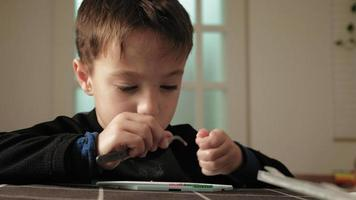 Child plays with peeler beads fine motor development video