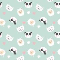 Cute animals seamless pattern background vector