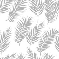 Beautiful Palm Tree Leaves Silhouette, Seamless Pattern Background Vector Illustration
