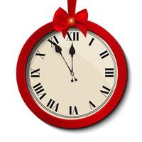 Abstract Christmas Clock Icon vector