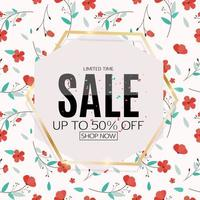 Abstract Design Sale Banner Template vector