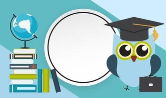 Back to School Education Background with Frame vector