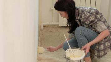 Two Women Painting a Wall video