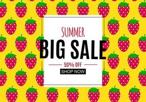 Abstract Summer Sale Background with Frame vector