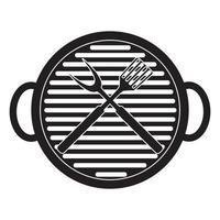 icono de barbacoa con herramientas de parrilla vector