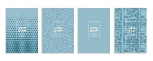 Simple Minimal Covers Template Design Future Geometric Pattern vector