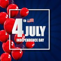 Independence Day in USA Background. Can Be Used as Banner or Poster vector