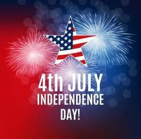 día de la independencia en el fondo de estados unidos. se puede utilizar como pancarta o póster vector