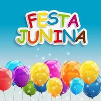 Festa Junina Holiday Background Traditional Brazil June Festival Party vector