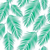 Beautiful Palm Tree Leaves Silhouette. Seamless Pattern Background Vector Illustration
