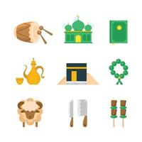Set Of Eid Al Adha Icons vector