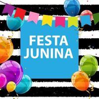 Festa Junina Holiday Background. Traditional Brazil June Festival Party vector