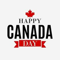 Happy Canada Day Background greeting card vector