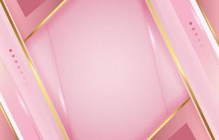 fondo de oro rosa de lujo vector