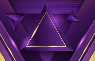 Triangle Lilac Gold Luxury Background vector