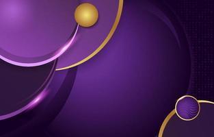 Fondo de lujo de oro lila círculo abstracto vector