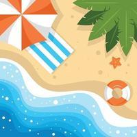 paisaje de playa de verano vector