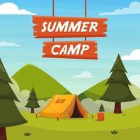 Summer Camp Background vector